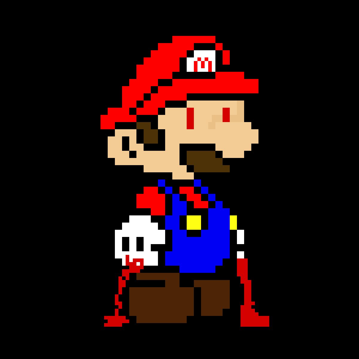 Pixilart Devil Mario By Tempered Soul1