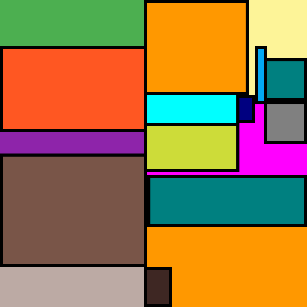 multy colour boxs by lilli