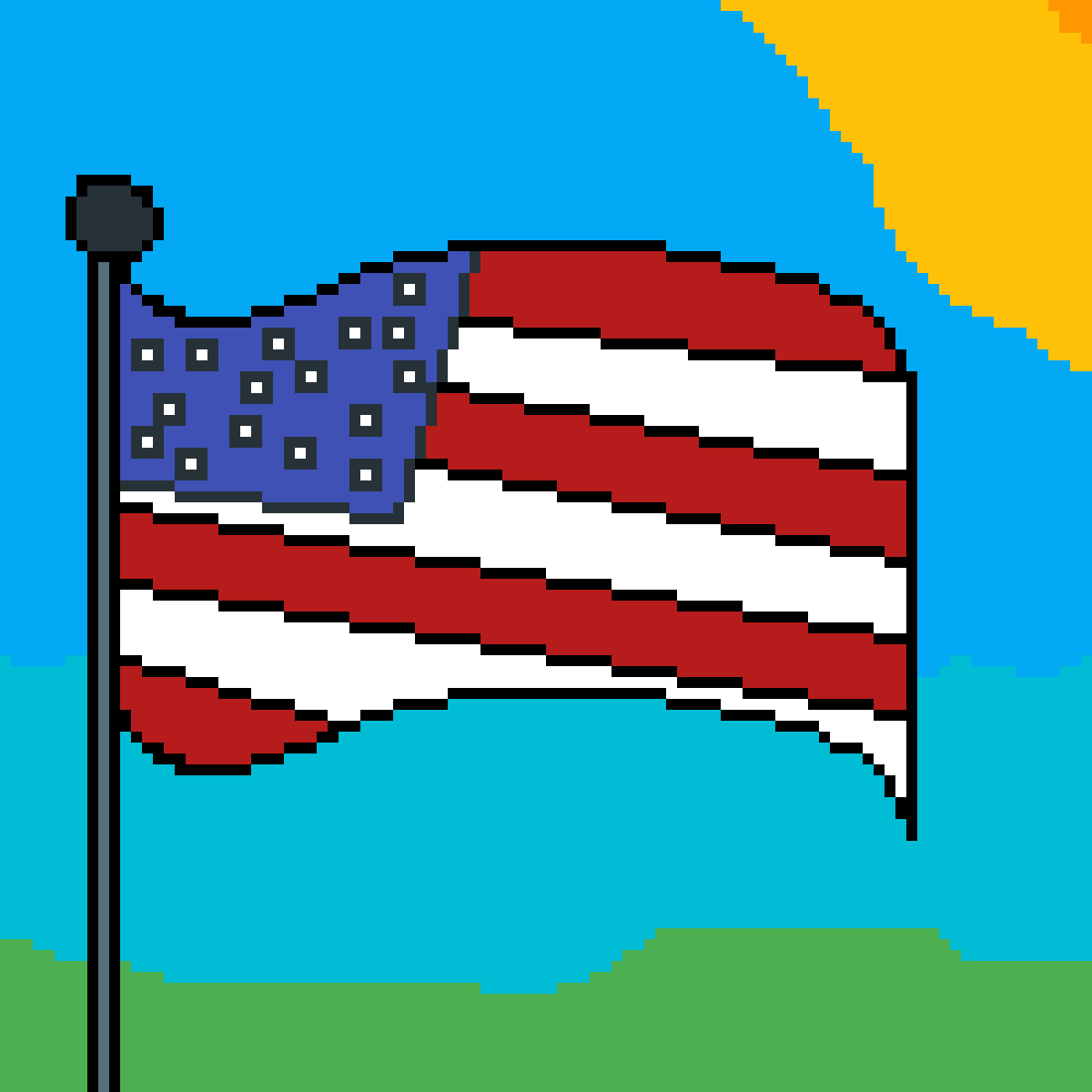 USA flag of america by malo
