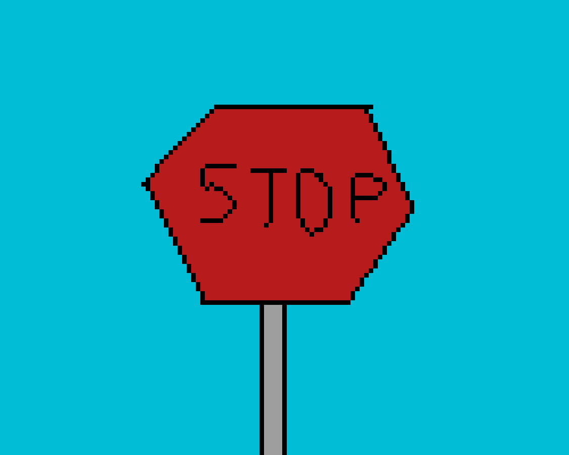 Stop sign by Snowpuppy