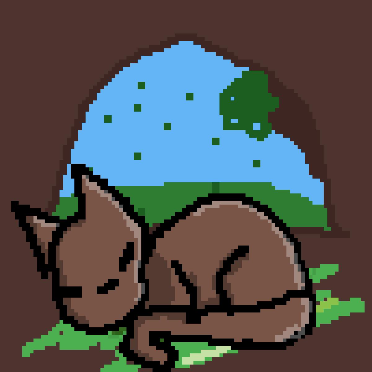 Warrior Cat sleeping (base?) by Zombie-Dog