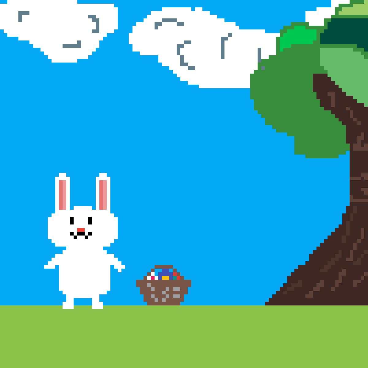Easter!!! Drawn by me!!! Copyright. by rarapiopio