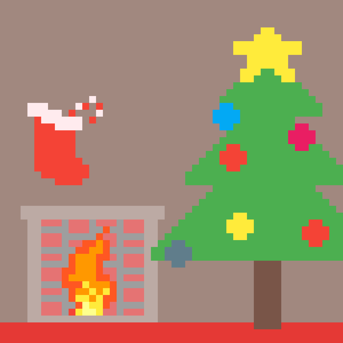 Christmas Tree By The Fire! by splashyoat