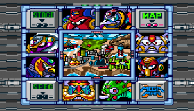 Megaman X Stage Selection Screen