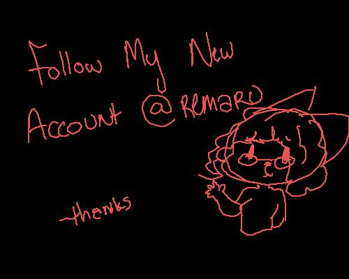 Follow my new Account