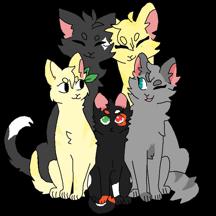 Warrior cat family.