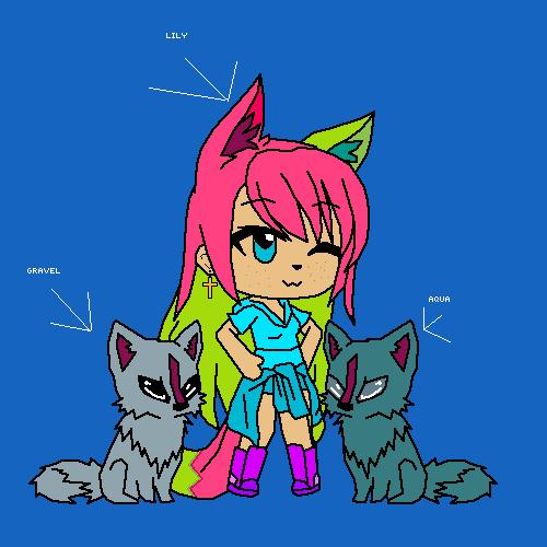 Lily Aqua and Gravel
