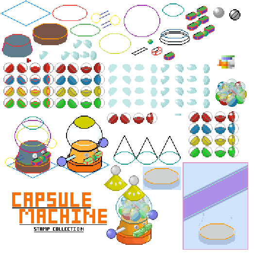 Capsule Machine Stamp Collection