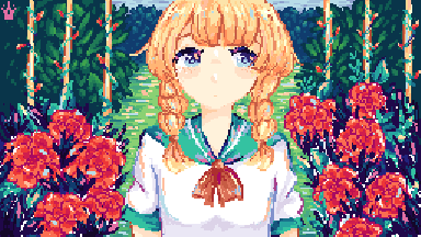 The girl in the garden ♛