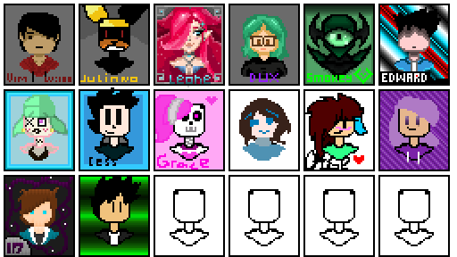 profile collab: draw yourself in the box