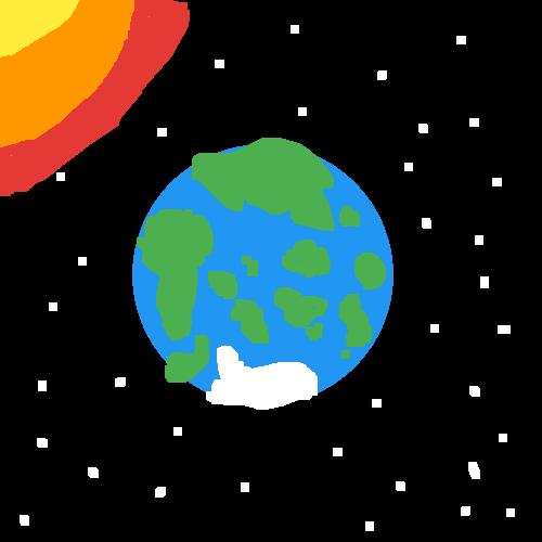 EARTH IN SPACE (sun)