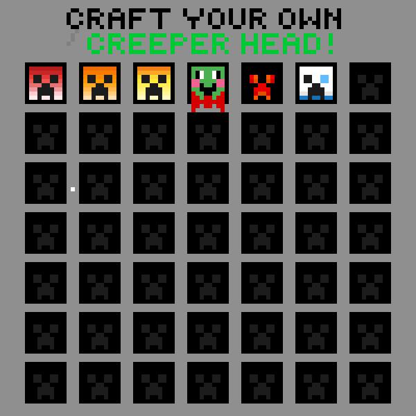 Make your own creeperhead