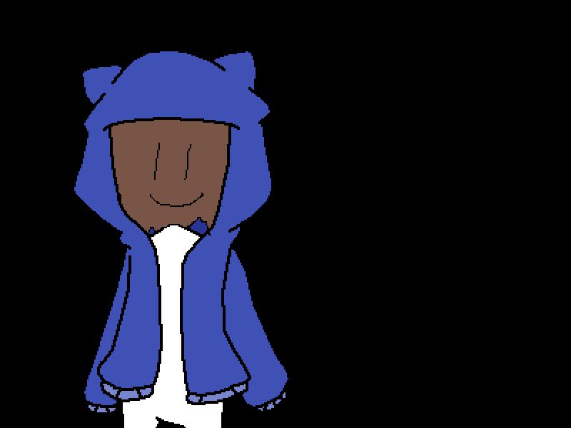maskie in hoodie