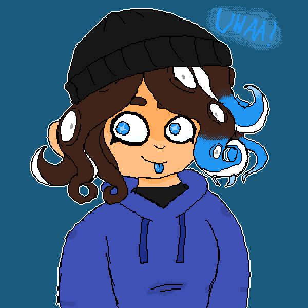 Bluu as an octoling