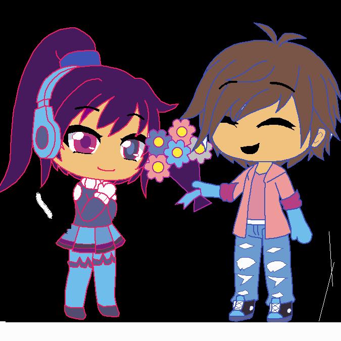 Flying Boy And Girl