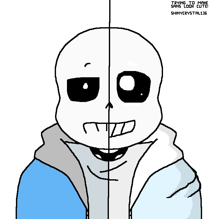 Trying to make Sans look cute!