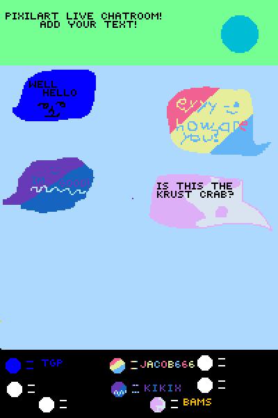 Pixil art chat room collab