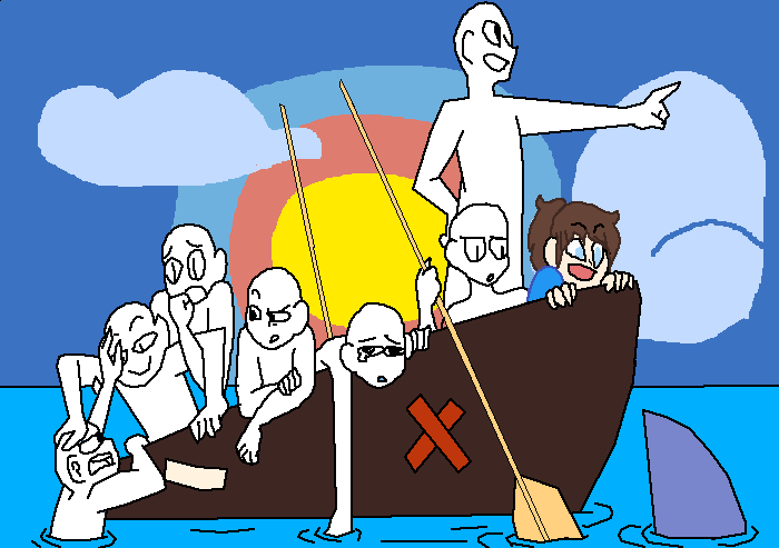 people on a boat (base)