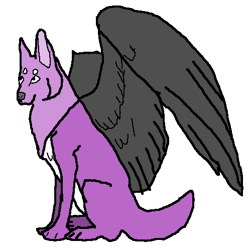Dark angel wolf
