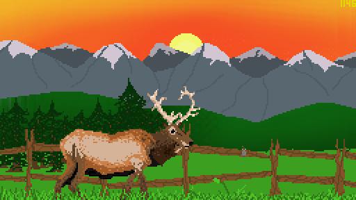 Coloradan Sunset /w Elk 2.0