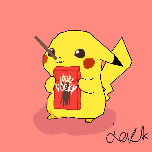 cute pikachu with pockeys