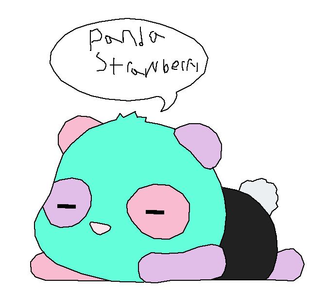 panda strawberry as a panda