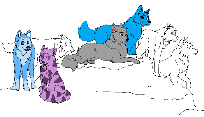 im the lilac purple strip one her name is lilica purple