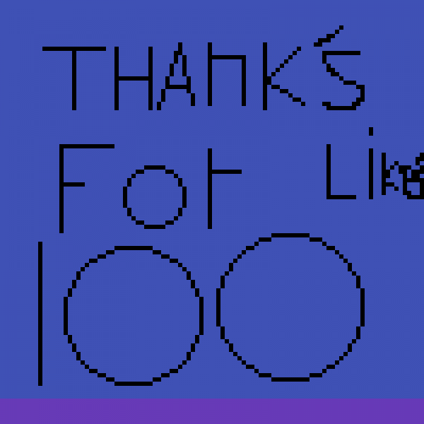 Thanks for 100 Likes! and followers