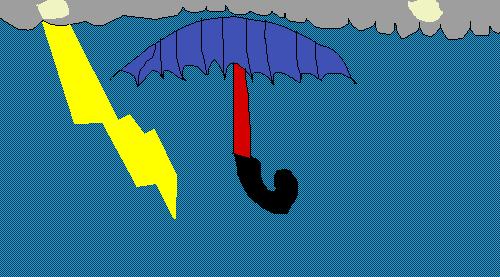 hold tigh to your umbrella