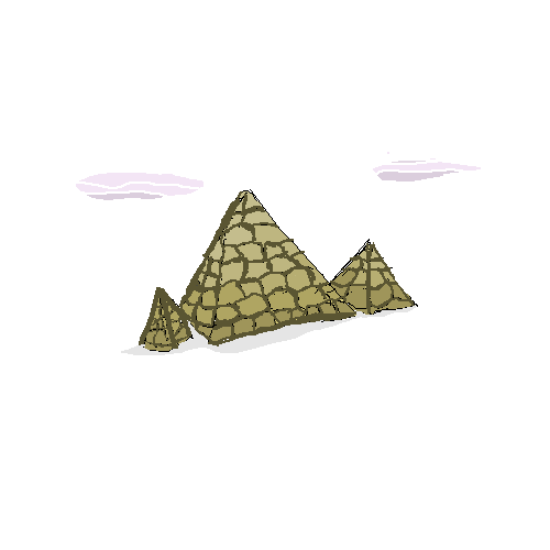 3 old triangles