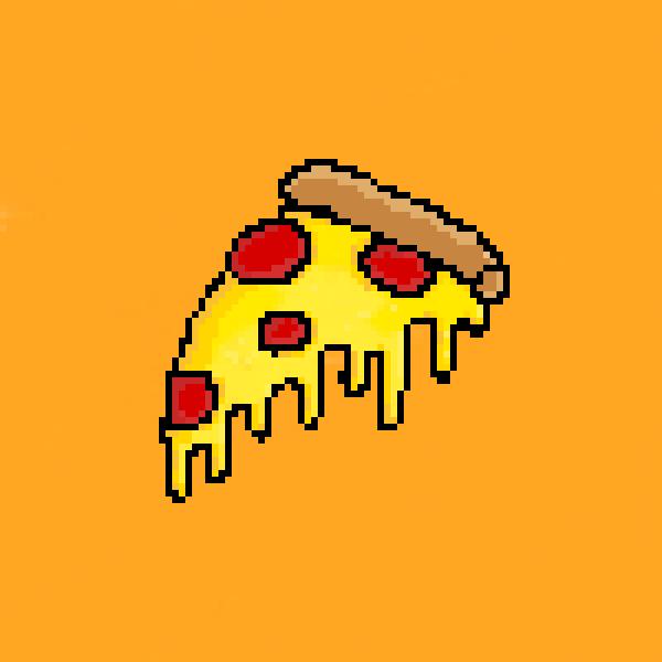 A slice of cheesy pizza