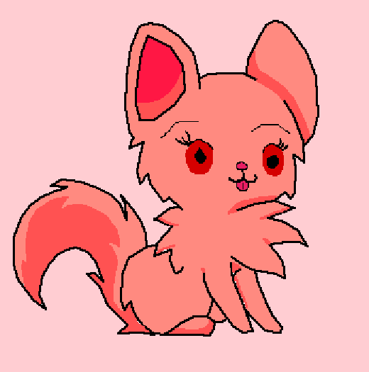 Its a fluffy dogo