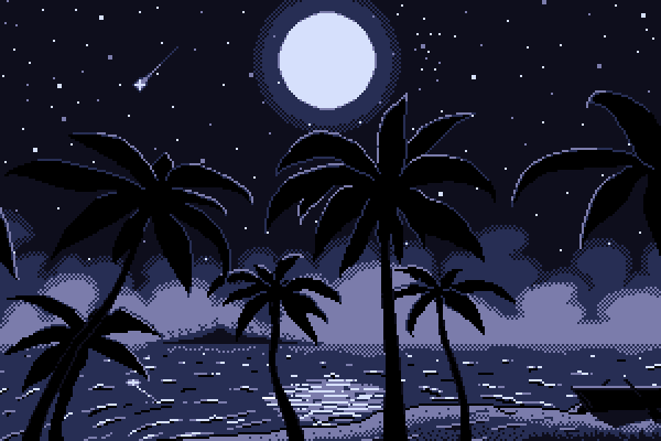 Moonlight midnight (minimalistic)