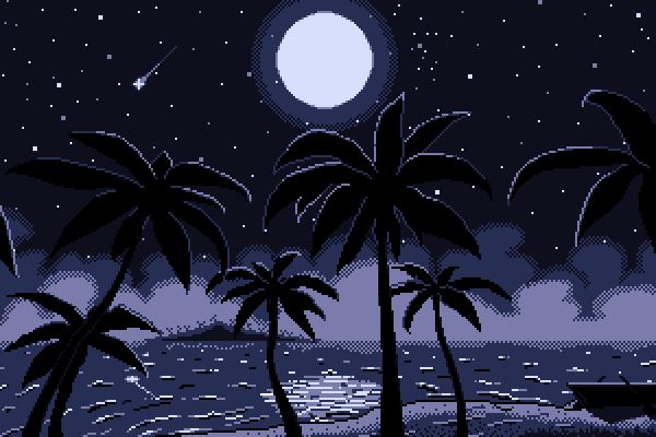 Moonlight midnight (minimalistic)