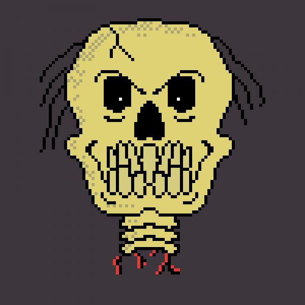 Spoopy skeleton