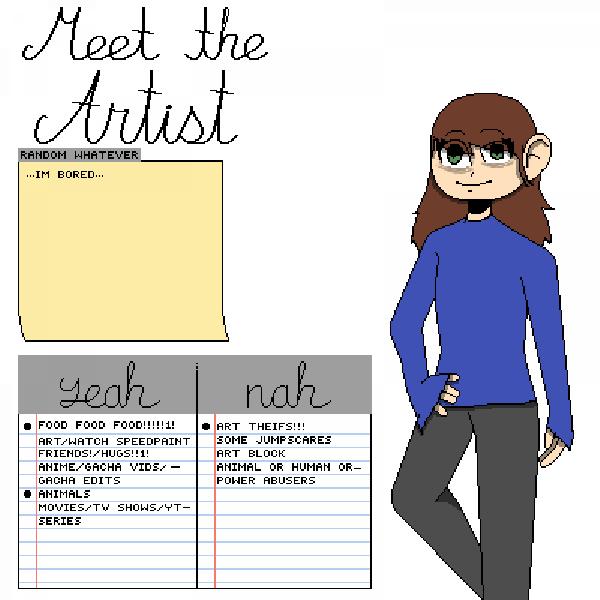 meet the artist (meh irl)