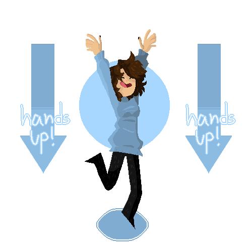 ⇡ ! hands up ! ⇣