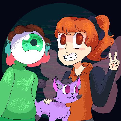 Cream, Mattie, and Lilac