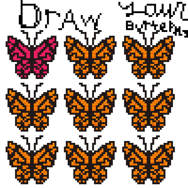 draw your butterfly