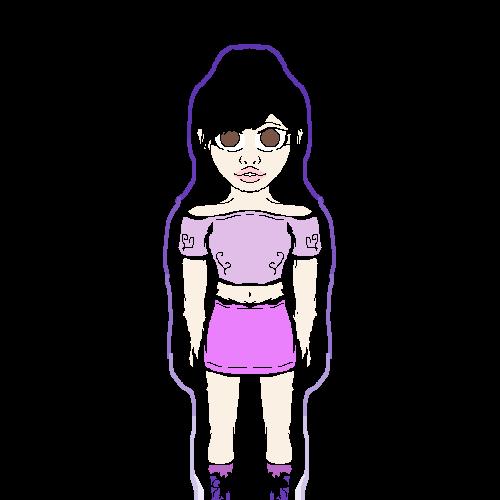 Purple theme girl