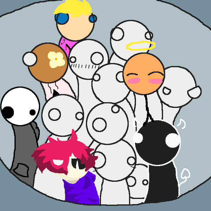 Im the one with pink hair
