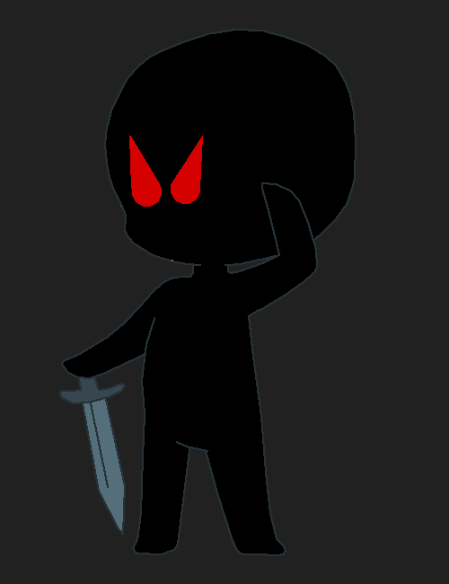 black stick