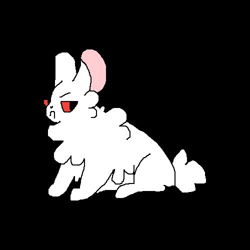 An angry bunny