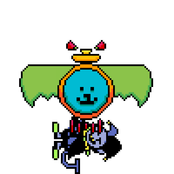 nebulannoying dogtexx stamps jevil with his paws