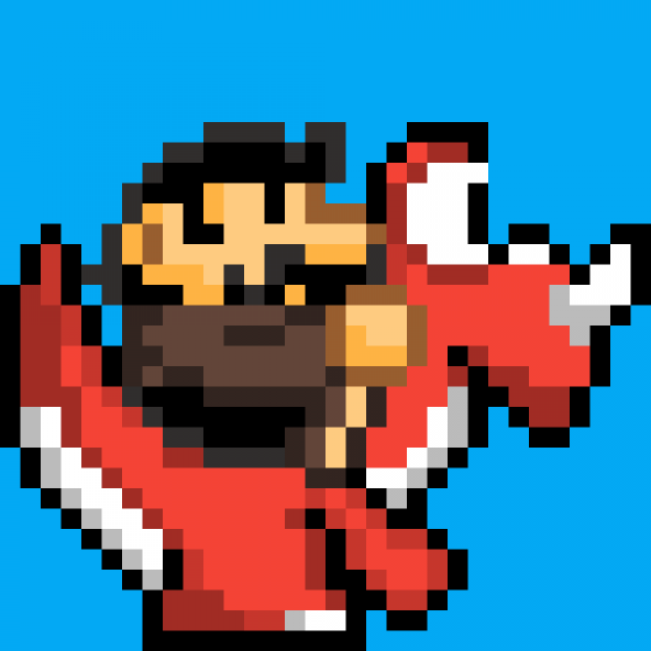 """(Feusaur) A """"Yoshi"""" For Vincent (SMW Style)"""