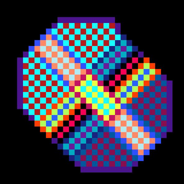 Multi colored badge