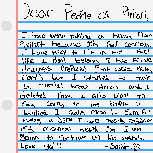 My mental health letter....