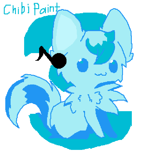 chibi wolf Paint  to much CUTENESSS AHHHHH