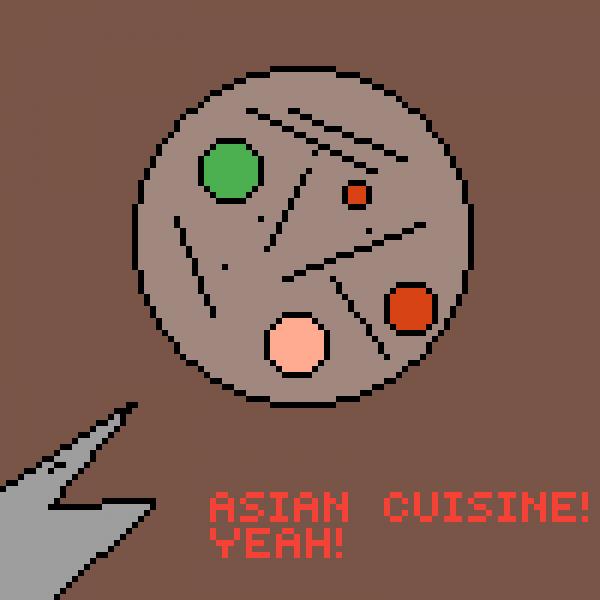 Shark puppet asian cuisine soup