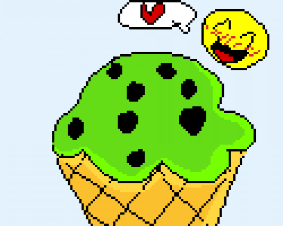 Mint Chocolate Chip Ice Cream!  (My favorite X3)